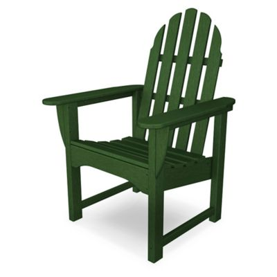 Exceptionnel POLYWOOD® Classic Adirondack Dining Chair In Green