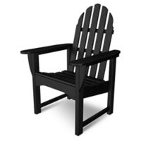 POLYWOOD® Classic Adirondack Dining Chair in Black