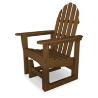 POLYWOOD® Classic Adirondack Glider Chair in Teak