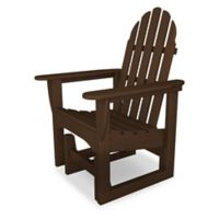 POLYWOOD® Classic Adirondack Glider Chair in Mahogany