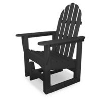 POLYWOOD® Classic Adirondack Glider Chair in Slate Grey
