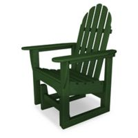 POLYWOOD® Classic Adirondack Glider Chair in Green