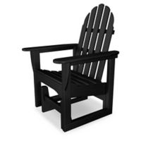 POLYWOOD® Classic Adirondack Glider Chair in Black