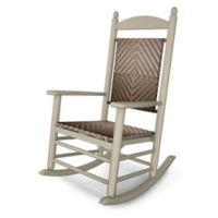 POLYWOOD® Jefferson Woven Rocker in Sand/Cahaba