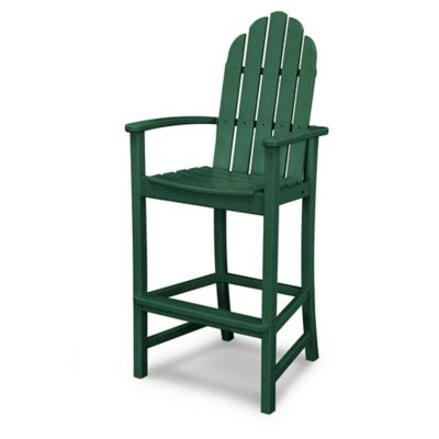 POLYWOOD® Classic Adirondack Bar Chair In Green