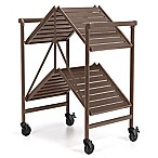 Cosco® Outdoor Folding Serving Cart in Brown