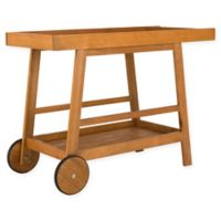 Safavieh Renzo Indoor/Outdoor Bar Cart in Teak Finish