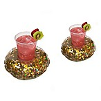 Pool Candy Holographic Glitter Drink Floats in Gold (Set of 2)