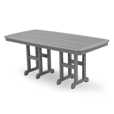 Polywood® Nautical 71.5 Inch Dining Table In Slate Grey