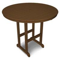 POLYWOOD® La Casa 48-Inch Round Bar Table in Teak