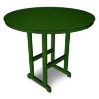 POLYWOOD® La Casa 48-Inch Round Bar Table in Green