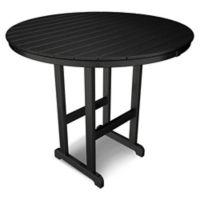 POLYWOOD® La Casa 48-Inch Round Bar Table in Black