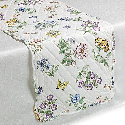 Lenox 174 Butterfly Meadow 174 Quilted Table Runner Bed Bath