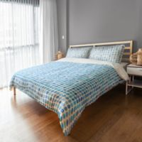 Designs Direct Blue Dots King Duvet Cover in Blue