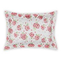 Designs Direct Watercolor Roses King Pillow Sham in Pink/White
