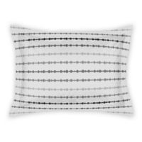 Designs Direct Neutral Dot Stripes King Pillow Sham in Neutral