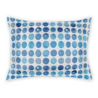 Designs Direct Blue Dots Standard Pillow Sham in Blue/White