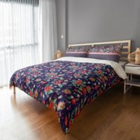 Designs Direct Florals Twin Duvet Cover in Navy