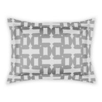 Designs Direct Geo Pattern Standard Pillow Sham in Grey