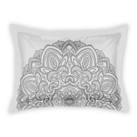 Designs Direct Medallion Standard Pillow Sham in Grey