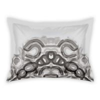 Designs Direct Watercolor Kaleidoscope King Pillow Sham in Grey