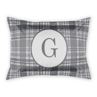 Designs Direct Plaid King Pillow Sham in Grey