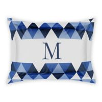 Designs Direct Geo Triangles King Pillow Sham in Blue