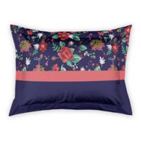 Designs Direct Florals Standard Pillow Sham in Navy