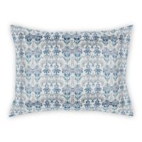 Designs Direct Damask King Pillow Sham in Blue