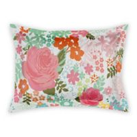 Designs Direct Retro Bright Blooms King Pillow Sham in Pink