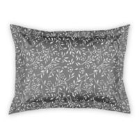 Designs Direct Delicate Buds Standard Pillow Sham in Grey