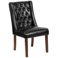 Flash Furniture Preston Series Leather Tuffed Chair in Black