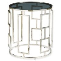 Pulaski Bangle Stainless Steel and Glass End Table