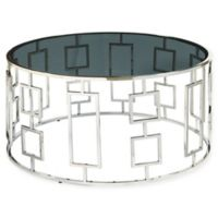 Pulaski Bangle Stainless Steel and Glass Cocktail Table