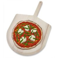 Honey-Can-Do® 16-Inch Basswood Pizza Peel with Curved End