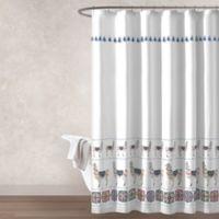 Rafael Llama Mulitcolor Shower Curtain