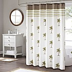Madison Park Palm Shower Curtain in Green