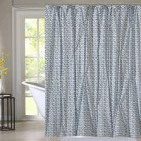 Style Quarters Blue Batik Shower Curtain