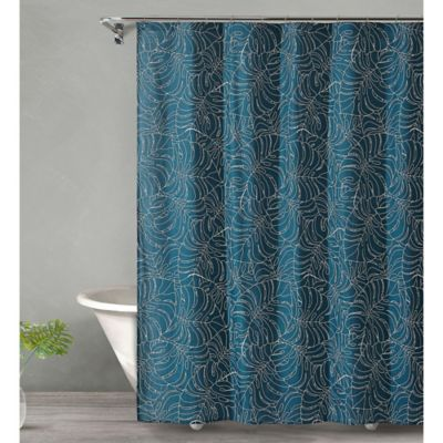 Tropical Midnight Shower Curtain In Dark Green Buy From Bed Bath Beyond