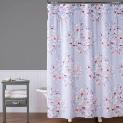 Saturday Knight Lillian Floral Toss Shower Curtain
