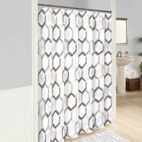 Vue® Hexagonal Shower Curtain in Grey