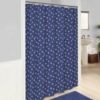 Vue® Glam Stripe Shower Curtain in Pink