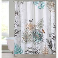 Birdie Shower Curtain in White