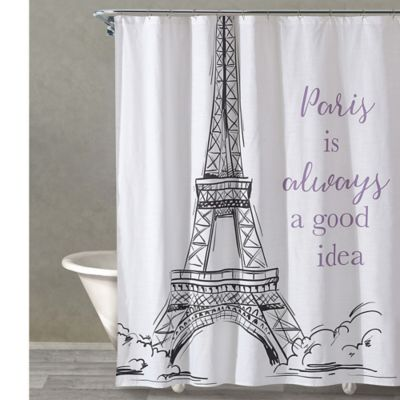 Yes To Paris Shower Curtain In White