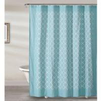 Sophia Tile Shower Curtain in Aqua