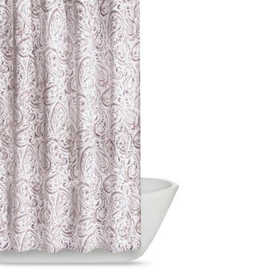 pale pink shower curtain. Truly Soft Watercolor Paisley Shower Curtain In Pink Buy From Bed Bath  Beyond