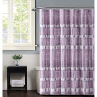 Vince Camuto Nantucket Shower Curtain in Plum