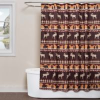 Saturday Knight Timberline Shower Curtain in Brown