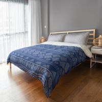 Designs Direct Tribal Pattern King Duvet Cover in Blue