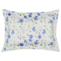 Designs Direct Watercolor Florals King Pillow Sham in Blue